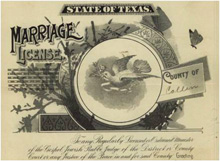 1898 Marriage License