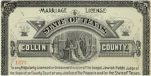 1913 Marriage License