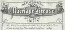 1942 Marriage License