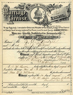 Mariage License Example